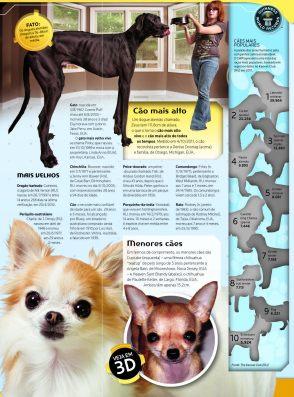 GWR 2013 traz em suas páginas uma inédita experiência 3D com realidade aumentada, onde você pode ver, por exemplo, o menor cão do mundo em tamanho real
